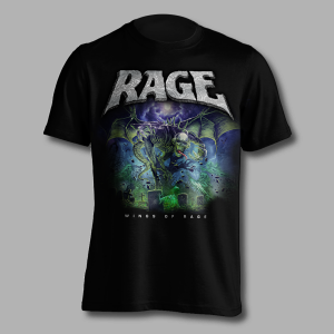 "Official ""Wings Of Rage"" album shirt - front"
